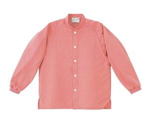 キラク 前開きシャツ LL CR818-14(ピンク)