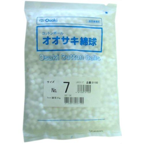 オオサキメディカル オオサキ綿球 No.7 50g入 7mm(直径)【02P06Aug16】
