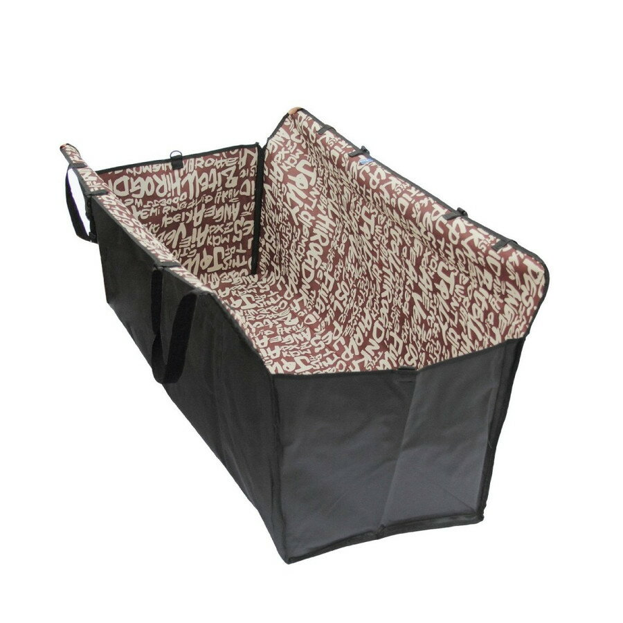 新型ペット用ドライブ防水シート カーシートペット 犬セーフ安全トラベルハンモックカバー/マット/毛布 ボックスタイプ コーヒー