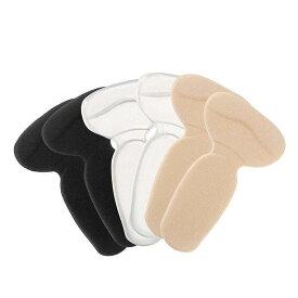 靴擦れ防止パッド かかとパット 2足セット T型踵 インソール 足裏保護 男女兼用 パカパカ防止 ジェル クッション 両面テープ付