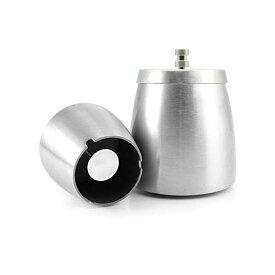 灰皿 ふた付き 密閉力UP 大容量 ステンレス 卓上 屋外兼用 洗いやすい おしゃれ 密封性 丸洗い可能