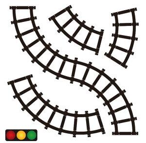道路シール 線路シール 4枚セット マスキングテープと一緒に使おう! 子供 おもちゃ 遊び 貼ってあそぼう 子供ギフト