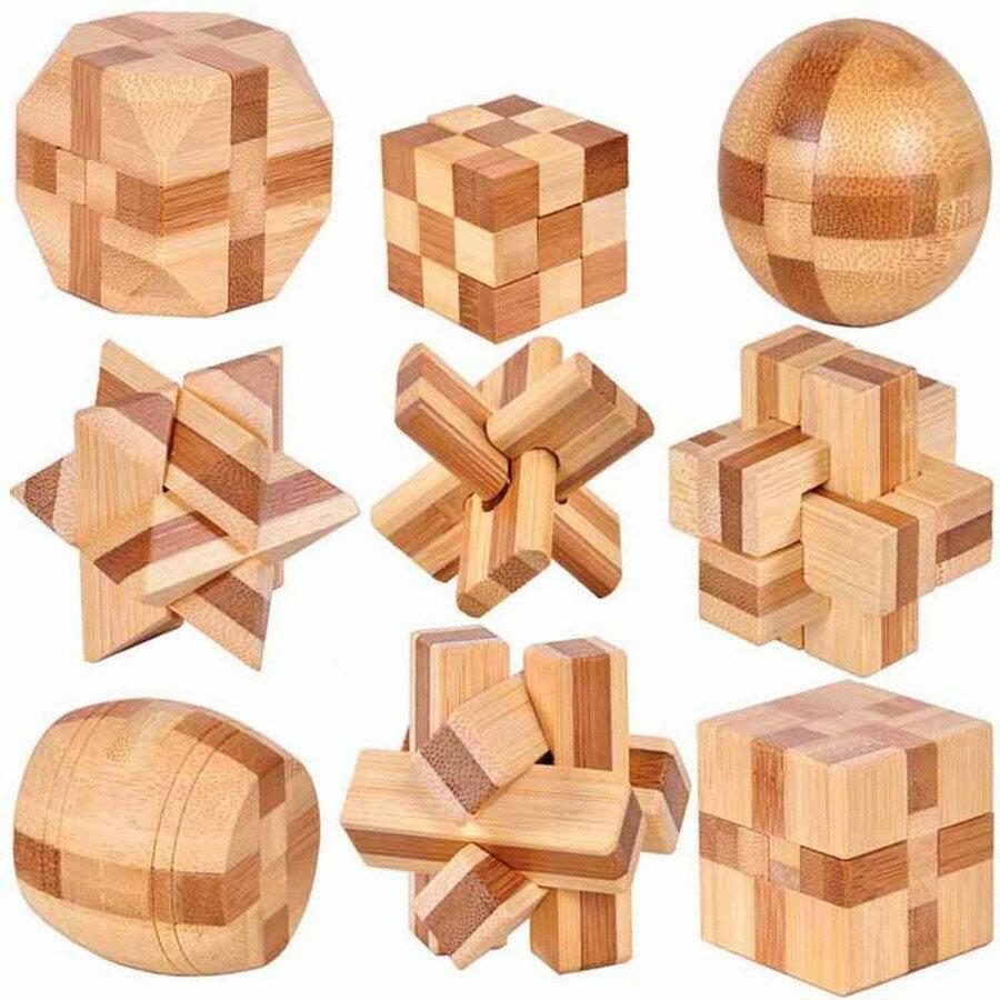 立体パズル 9種セット 頭の体操 知的玩具 孔明 パズル 3D 創造力 知育