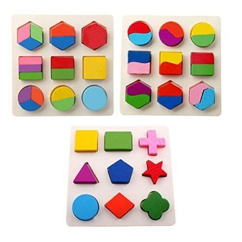木のおもちゃ 幾何認知 パズル 知育玩具 3種 セット