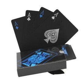 ブラック トランプ 黒 マジック 防水 樹脂製 おもしろ 面白 豪華 カード