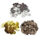 おもちゃのお金 金貨 銀貨 銅貨 コインセット 偽コイン ゲーム用小道具 海賊ゲーム プラスチックのチップ