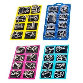 知恵の輪 チャイニーズリング パズル 玩具 8個セット 4種から選べます