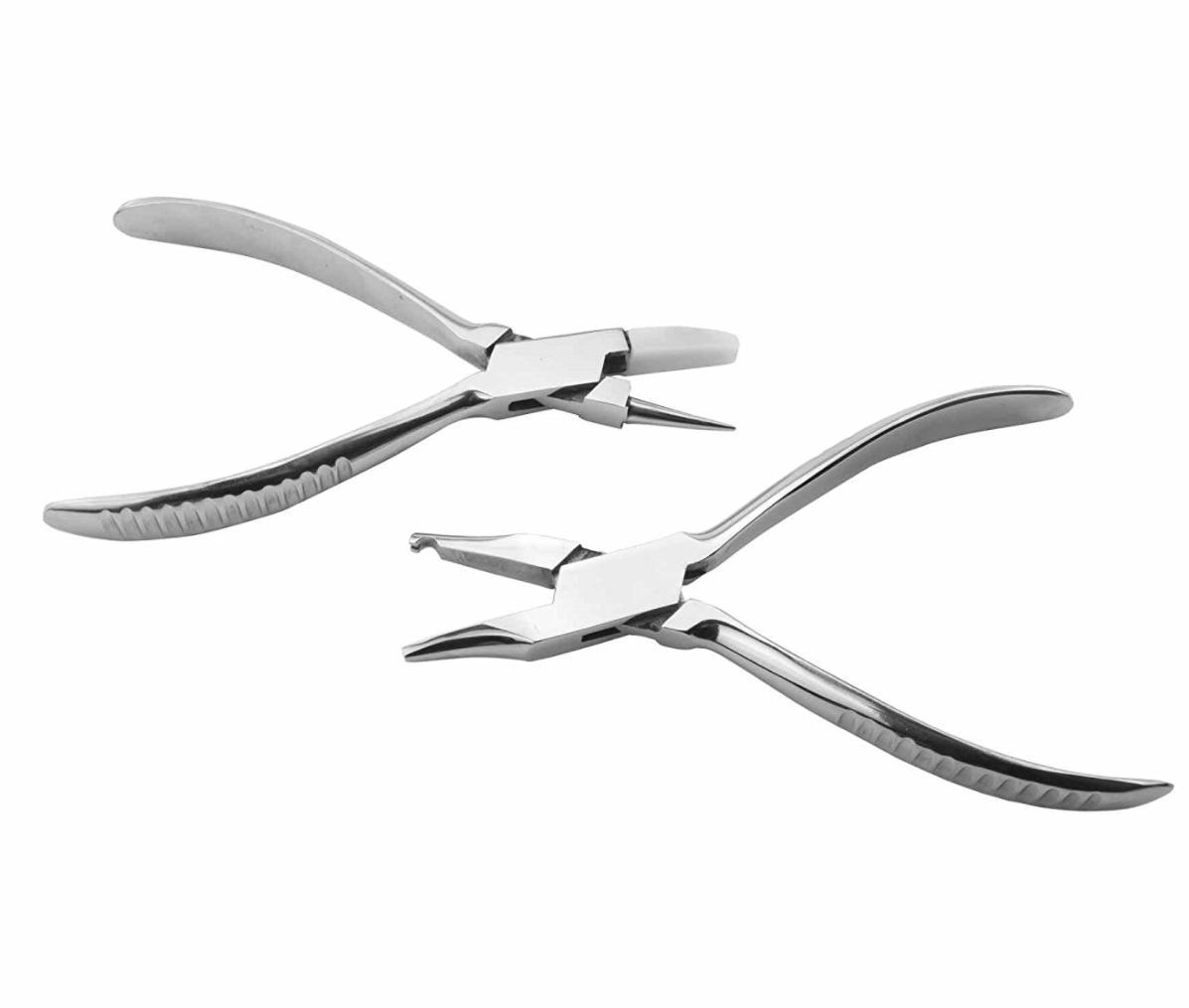 メガネ修理 工具 2点セット ヤットコ 修理 メンテナンス 工具 鼻パッド 調整 初心者向け