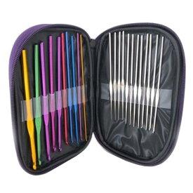 かぎ針 編み針 22本 セット 毛糸 かぎ針10本とレースあみ針12本 ケース付き