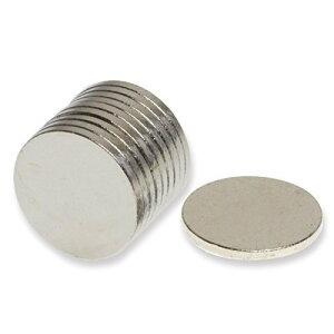 世界最強マグネット!ネオジウム ネオジム磁石 10×1mm 10個セット 丸型マグネット
