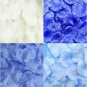 フラワーシャワー 青 1200枚 セット 【ブルーグラデーション】 結婚式 2次会 パーティー の 演出に