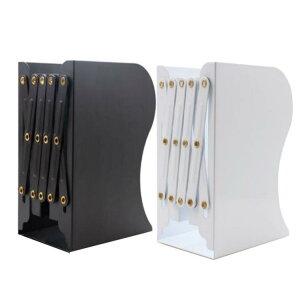 本立て ブックスタンド 本棚 オフィス 卓上収納 デスク整理 仕切りスタンド ブックエンド 事務用品 伸縮自在 ブラック/ホワイト