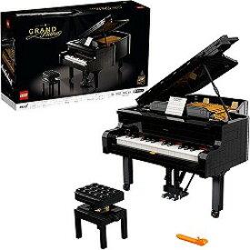 【ポイント10倍!】アイデア グランドピアノ 21323 ブロック おもちゃ 男の子 女の子 大人向け コンサートピアノ 25鍵 鍵盤 自動演奏 クリエイティブ リビング オフィス ピース