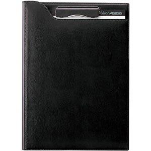 【ポイント5倍!】クリップファイル zeitVektor A4 革製 ブラック ZVF654B クリップボード 文具 文房具 革 名刺ポケット フリーポケット ペンホルダー ビジネス 事務 事務用品