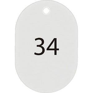 【ポイント5倍!】番号札 大 白 25枚 26-50番 セット BF-51-WH クラークチケット 番号札 札 荷札 クラーク チケット 引換券 引き換え カウンター 旅館 ホテル 識別 分類 交換