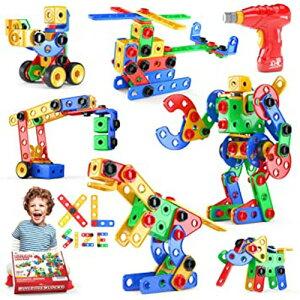 【ポイント10倍!】大工 ブロック おもちゃ 組み立て ブロック 子供 知育玩具 ロボット 恐竜 男の子 に 人気 STEM玩具 日本語バッケージ 立体パズル ゲーム モデル DIY 積み木