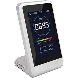【ポイント10倍!】CO2マネージャー 二酸化炭素濃度測定器 温度測定 湿度測定 TOA-CO2MG-001 換気 計測器 温度 湿度 空気の状態 過密状況 数値化 表示 CO2 二酸化炭素
