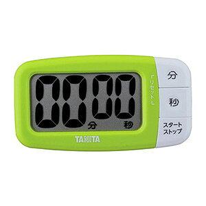 【ポイント5倍!】タニタ キッチン タイマー マグネット付き 大画面 100分 グリーン TD-394 GR でか見えタイマー フレッシュグリーン シンプル 使いやすい 見やすい 簡単