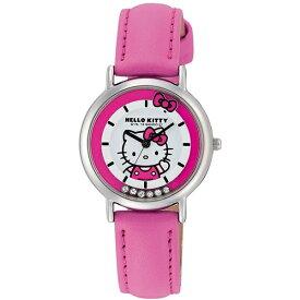 ハローキティ 時計 HELLO KITTY キッズ腕時計 ラインストーン付き ピンク HK17-132 ギフト プレゼント 誕生日
