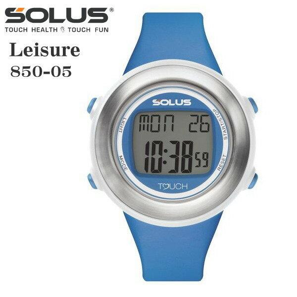 タッチ式心拍計測 腕時計 ランニングウオッチ ソーラス SOLUS レディス腕時計 Leisure 850-05 ブルー ギフト プレゼント