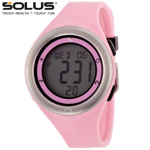 タッチ式心拍計測 腕時計 ランニングウオッチ ソーラス SOLUS メンズ腕時計 Leisure 910-003 ピンク ギフト プレゼント