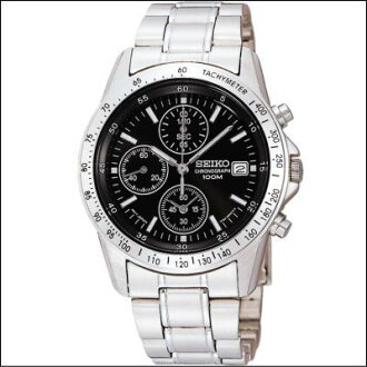 Seiko SEIKO chronograph mens watch SND367PC-blackface