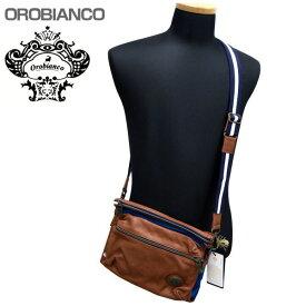 OROBIANCO オロビアンコ ショルダーバッグ ボディバック ブラウンブルー系 FINLEY TP-C OR166 GOLO-11 フト プレゼント