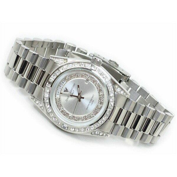 メンズ腕時計 シルバーカラー 10気圧防水 デイトカレンダー アイザック・バレンチノ IVG-1000-5 ギフト プレゼント 贈答品 記念品