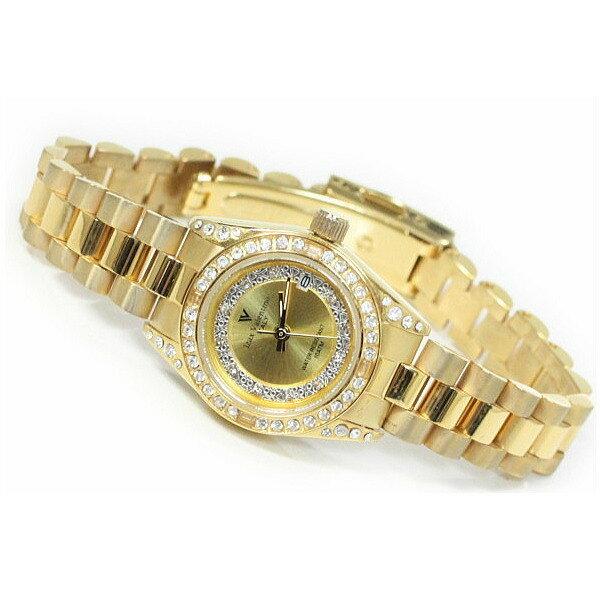 レディス腕時計 ゴールドカラー 10気圧防水 デイトカレンダー アイザック・バレンチノ IVL-1000-1ギフト プレゼント 贈答品 記念品