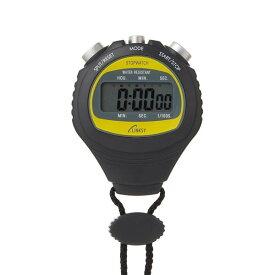 濡れた手でも触れる防滴機構 1/100秒計測 ストップウォッチ スポーツタイマー LS001-B ブラック 代引き不可