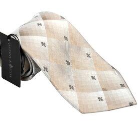 パトリック コックス 紳士ブランドネクタイ PATRICK COX necktie 剣先9,5cmレギュラータイプ PC001-BEIGE ギフト プレゼント 贈答品