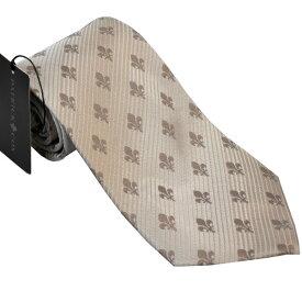 パトリック コックス 紳士ブランドネクタイ PATRICK COX necktie 剣先9,5cm レギュラータイプ pc006-beige ギフト プレゼント 贈答品