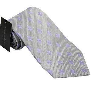 パトリック コックス 紳士ブランドネクタイ PATRICK COX necktie 剣先9,5cm レギュラータイプ pc006-silver ギフト プレゼント 贈答品