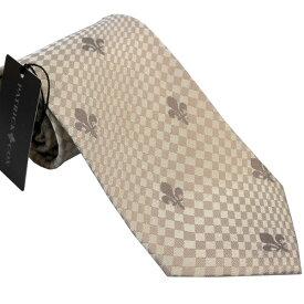 パトリック コックス 紳士ブランドネクタイ PATRICK COX necktie 剣先9,5cm レギュラータイプ pc007-beige ギフト プレゼント 贈答品