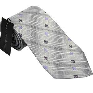 パトリック コックス 紳士ブランドネクタイ PATRICK COX necktie 剣先9,5cm レギュラータイプ pc008-silver ギフト プレゼント 贈答品