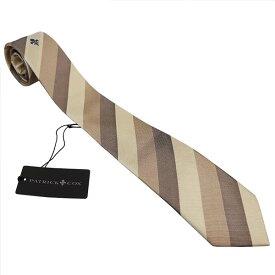 パトリック コックス 紳士ブランドネクタイ PATRICK COX necktie 剣先7,5cm スリムタイプ pc015-beige ギフト プレゼント 贈答品