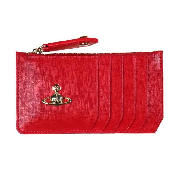 ヴィヴィアン・ウエストウッド SAFFIANO 小銭入れ財布 51060015 RED No-10 ギフト プレゼント 贈答品 誕生日祝い 成人式