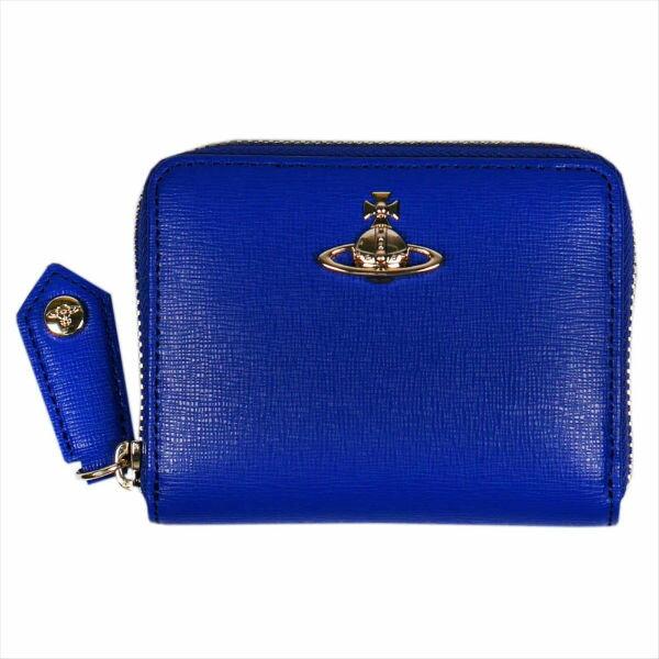 ヴィヴィアン・ウエストウッド SAFFIANO 小銭入れ財布 51080001 BLUE No-10 ギフト プレゼント 贈答品 誕生日祝い 成人式