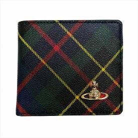 Vivienne Westwood ヴィヴィアン・ウエストウッド 2つ折り財布 DERBY 51010009 HUNTING TARTAN 19SS ギフト プレゼント 誕生日 クリスマス