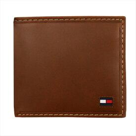 トミー・ヒルフィガー メンズ財布 2つ折れ財布 ブラウン TOMMY HILFIGER Highland 31TL25-014 [ギフトプレゼント 贈り物 誕生日祝い 父の日ギフト]