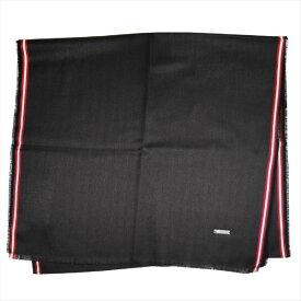 バリー マフラー スカーフ BALLY ブラック系 コットン100% イタリー製 ギフト プレゼント 贈答品 クリスマス