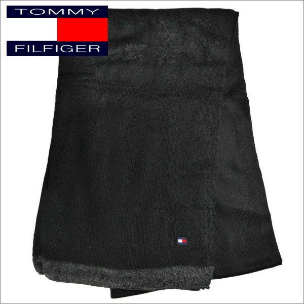 トミー・ヒルフィガー メンズマフラー TOMMY HILFIGER MUFFLER H8C7-3610 ブラック系 ギフトプレゼント 誕生日 クリスマス