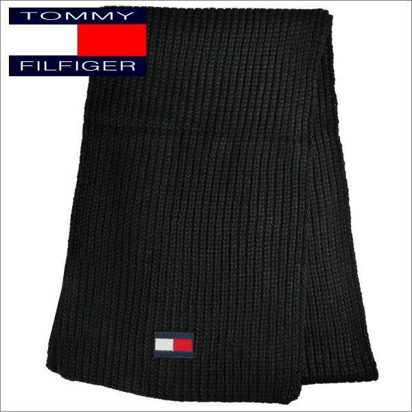 トミー・ヒルフィガー メンズマフラー TOMMY HILFIGER MUFFLER H8C8-3203 ブラック系 ギフトプレゼント 誕生日 クリスマス
