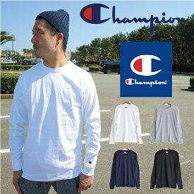 チャンピオン ロンT Tシャツ 長袖Tシャツ ロングスリーブTシャツ CHAMPION メンズ US ロンt 袖ロゴ ワッペン ワンポイント 無地 USAモデル 長袖T チャンピオン 長袖 Authentic ロングスリーブ