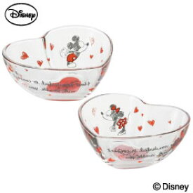 Love&Love ミッキーマウス&ミニーマウス ボールペアセット 小鉢 贈り物 ギフト 誕生日プレゼント ガラス食器 石塚硝子 アデリア Disneyzone ディズニーキャラクター