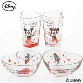 Love&Love ミッキーマウス&ミニーマウス ギフトセット 小鉢 贈り物 ギフト 結婚祝い 誕生日プレゼント ガラス食器 石塚硝子 アデリア Disneyzone ディズニーキャラクター