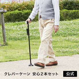 【正規品】クレバーケーン 安心2本セット杖 自立式 折りたたみ 3点 ステッキ お散歩 正規品 ショップジャパン