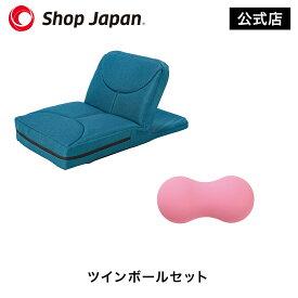 ゴロネックス ツインボールセット 座椅子型腹筋マシン 家トレ ダイエット 腹筋マシーン クランチ・プッシュアップも可能