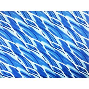ハワイアンファブリック綿ポリ/斜め柄/グラデーション/ターコイズ 品番HFB733