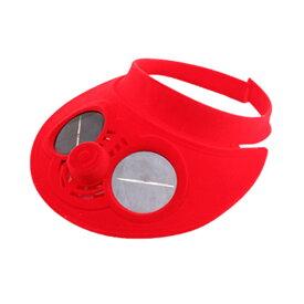 【送料無料】ソーラーファンキャップ レッド 冷却 ファンハット 扇風機 帽子 防止 熱中症 対策 子供 通気性抜群 野球 旅行 登山 ハイキング KAZECAP-RD